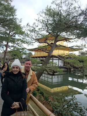 Kinkaku-ji Temple, Golden palace. Best view!