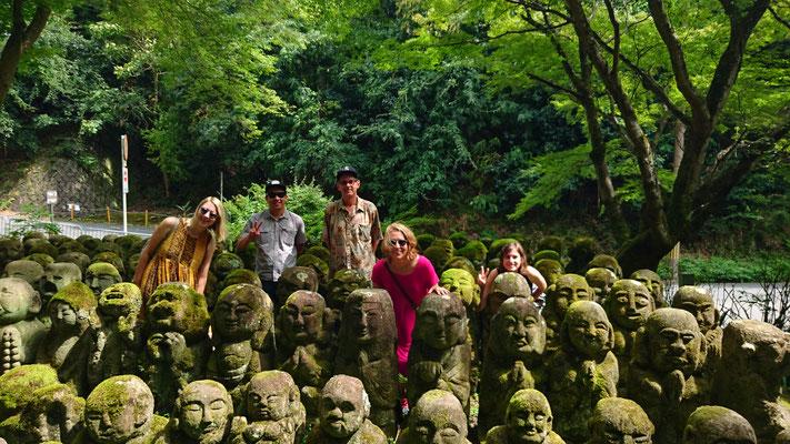Otagi Nenbutsu-Ji, 1200 rakan stone statues