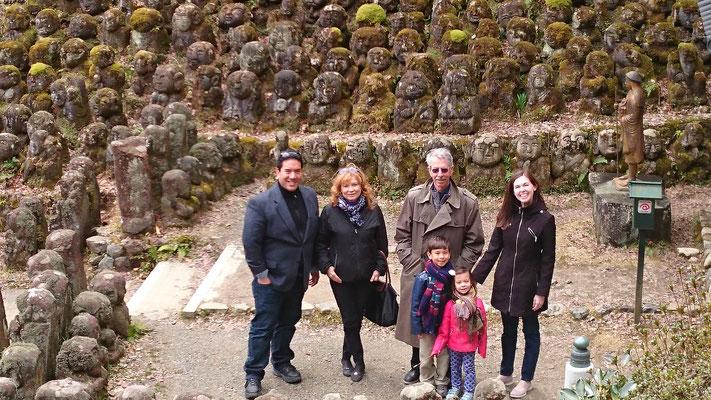 more than 1200 rakan, stone statues