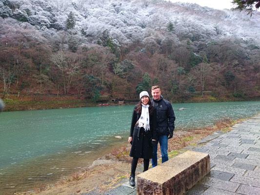 Arashiyama of the snow scene