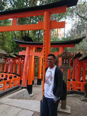 Torii of Fushimi-Inari Taisha Shrine