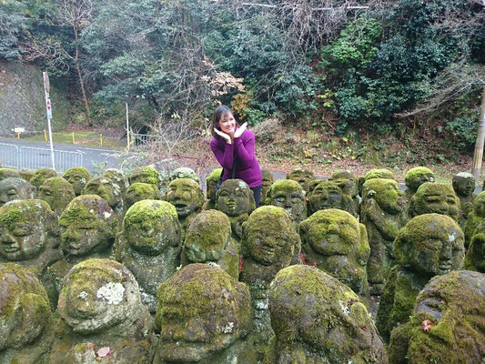 Otagi Nenbutsu-ji, Rakan sculptures