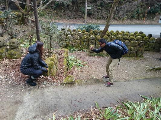 1200 stone sculptures of rakan-san
