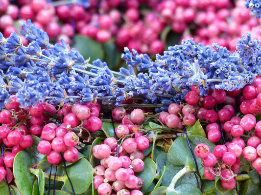 Pfefferkranz mit Lavendel