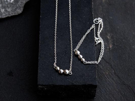 """""""1,2,3"""" Collier et Bracelet en argent 925 - 110 et 100 euros"""