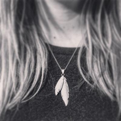 """""""Feathers"""" Pendentif en argent 925 - 135 euros"""