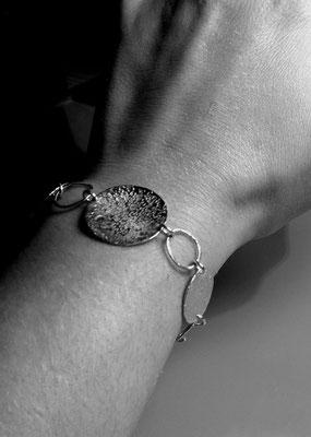 """Bracelet """"M-C"""" en argent 925 - 120 euros"""