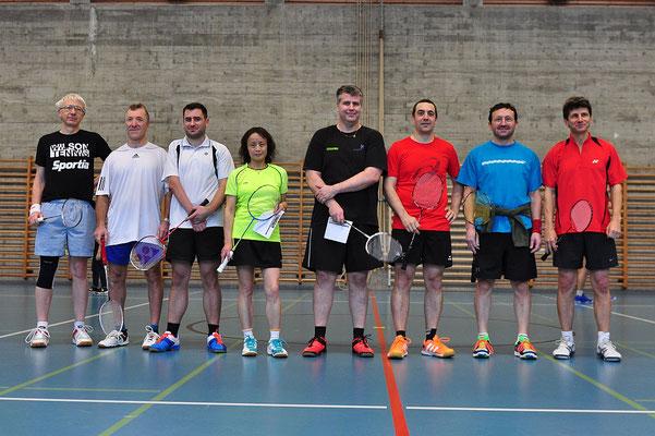 Die Teilnehmer des Einzelturniers