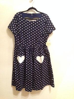 Herzchen Kleid mit Herzausschnitt hinten, gr 44
