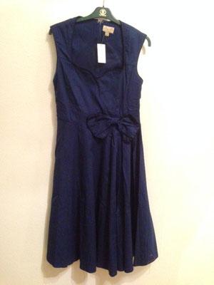 Blaues Kleid, 50er Jahre Style Kleid, Baumwolle