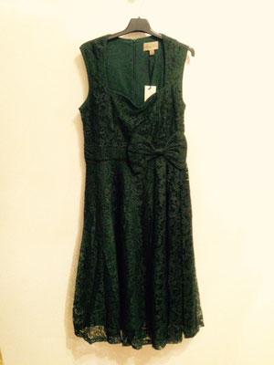 Grünes Kleid mit Spitze, gr 40