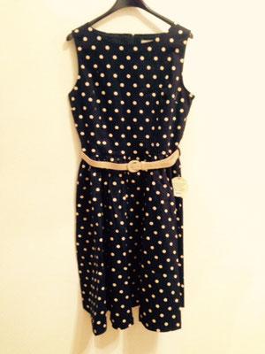 Polka Dotts Kleid, 50er Jahre Style Kleid, Baumwolle
