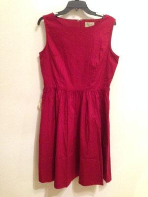 Rotes Kleid, 50er Jahre Style Kleid, Baumwolle, gr 40