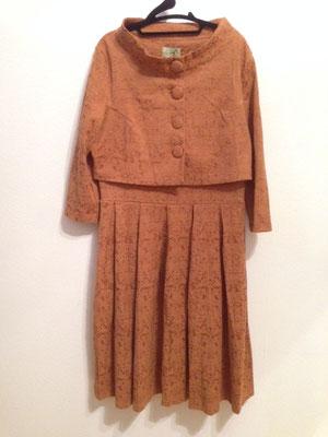 Kleid mit Jäckchen, Brokat