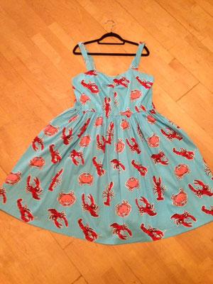 Kleid mit Hummer und Krabben  Gr 46