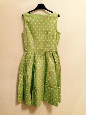 hellgrünes 50er Jahre Style Kleid, Baumwolle