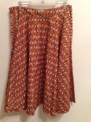 Tellerrock aus Baumwolle mit ägyptischen Katzen Gr 46,  55€