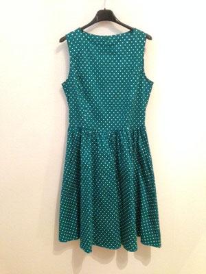Grünes Polka Dotts Kleid