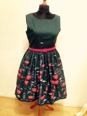 Kleid mit London Motiv, Baumwolle  gr 44-46