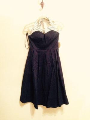 Neckholder Kleid mit Polka Dotts