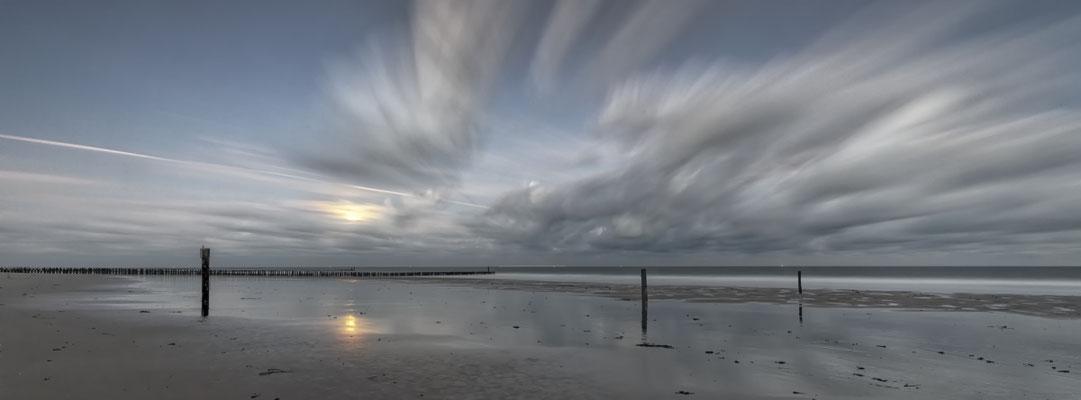 Monduntergang Domburg Niederlande