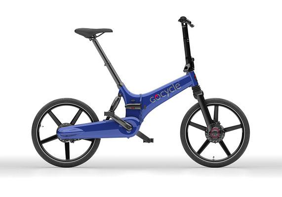 Gocycle GX Klapp e-Bike in blau
