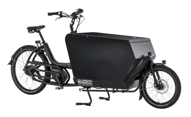 passendes Cargo e-Bike Zubehör zum Urban Arrow Cargo L, verschließbare Alubox schwarz, 2019