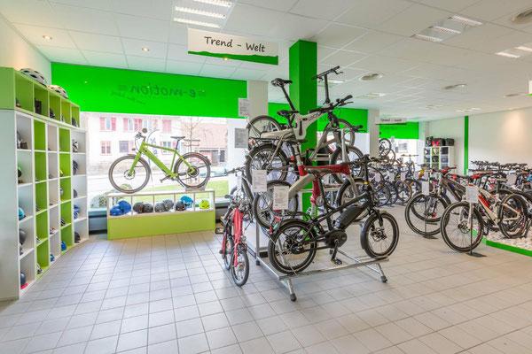 Markenvielfalt und vielseitiges Angebot in der e-motion e-Bike Welt Olten
