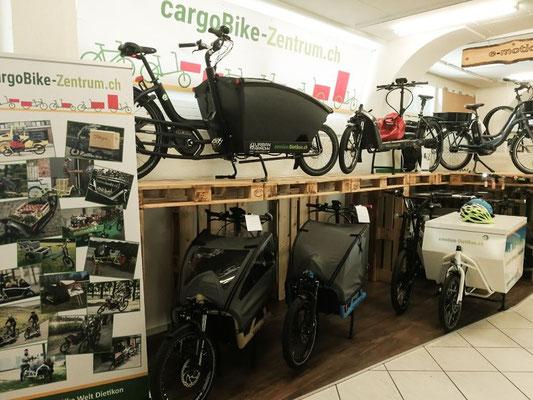 Das CargoBike Zentrum in Dietikon