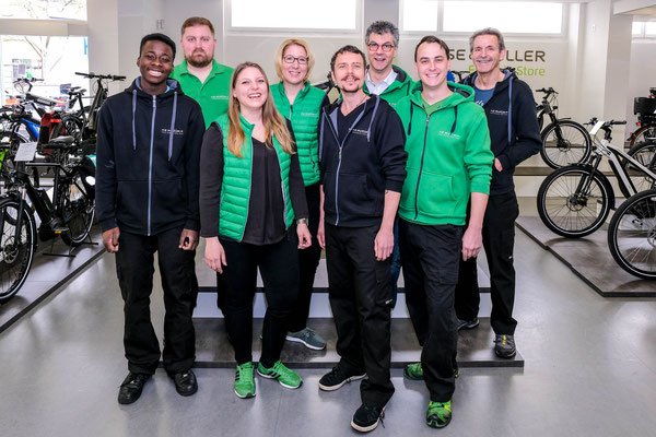 Team der e-motion e-Bike Welt Dietikon