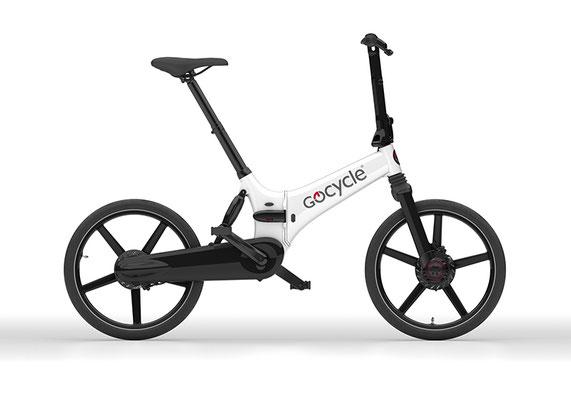 Gocycle GX Klapp e-Bike in weiß