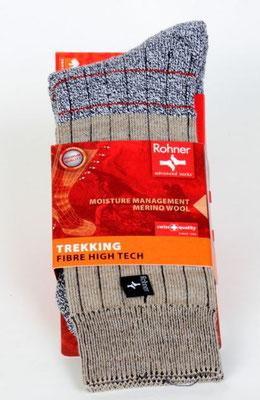 Socken, Firma-Rohner. Produkt-Information  Hauptvorteil: Feuchtigkeitsregelierung  Entwickelt für: Schuhe mit Membranfutter  Sport/Verwendung: Wandern/ Bergtouren  Eigenschaften: Natürliche Feuchtigkeitsregelierung. Preis: 17,90.-€