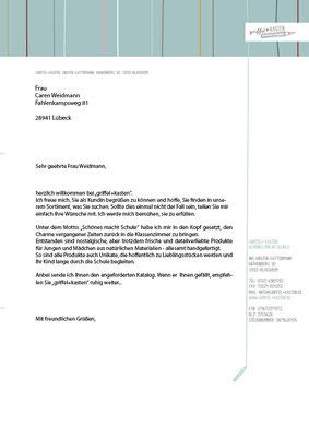 """Geschäftspapiere für """"griffel+kasten"""""""