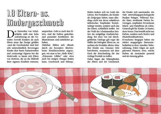 Illustration und Layout Bachelorthesis, 2011, HAW Hamburg