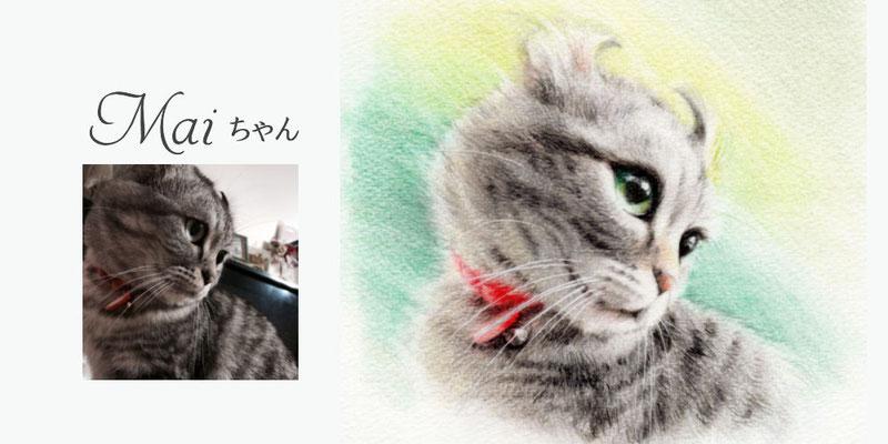 かわいいペットの似顔絵オーダー