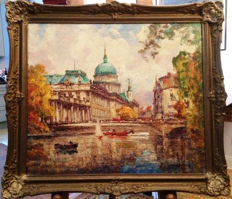 0474 Blick auf das Potsdamer Stadtschloss Mitte der 1930er Jahre I, Öl Lw, 60 x 70,5, u r sign, BarockR
