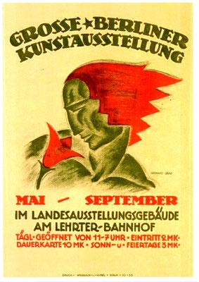Plakat zur Grossen Berliner Kunstausstellung 1921, 73 x 48, sign., SMB-Kunstbibliothek Berlin, WVZ 0114