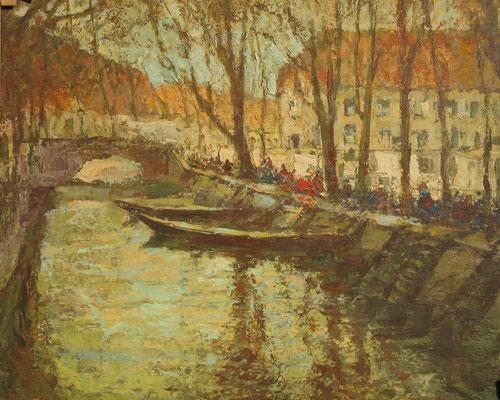 Potsdam: Stadtkanal, Öl Lwd., 60 x 70, Privatbesitz Potsdam, WVZ-Nr. 0303