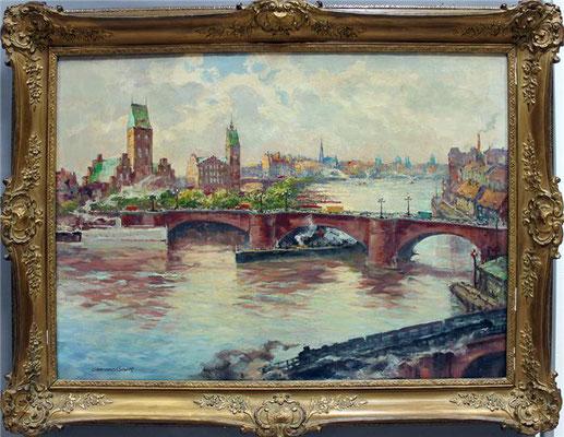 0141 Berlin - Waisenbrücke um 1930 II, Öl auf Leinwand, 72 x 100 cm, l. u. sign.