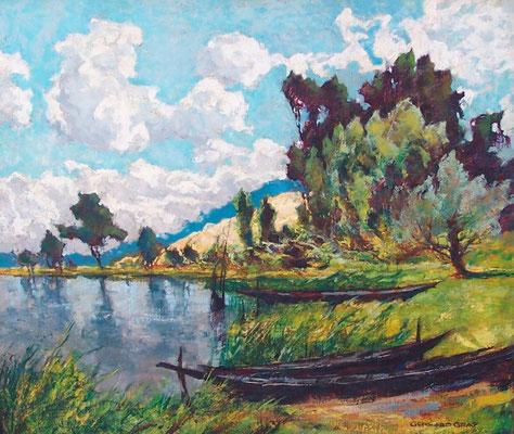 0086 Phöbener Sandberge II, Öl auf Leinwand, 60 x 70 cm, r. u. sign., gerahmt