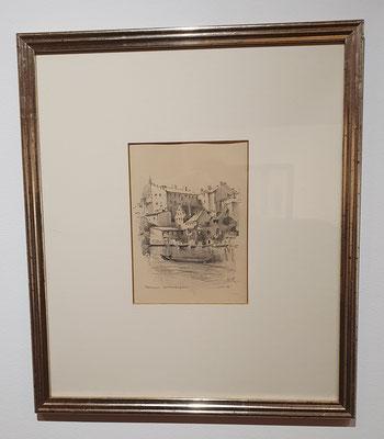 0297 Potsdam - Kleinvenedig, Bleistiftzeichnung, 1932, 19 x14, l. u. betitelt, r. u. dat. und sign.