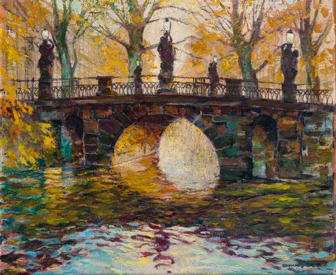 Potsdam: Die Breite Brücke im Herbst, Öl Lwd., 67 x 80, Privatbesitz Berlin, WVZ-Nr. 0550