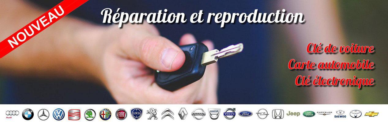 Réparation de clés de voiture