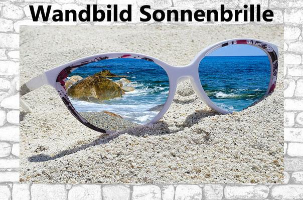 Wandbild Sonnenbrille