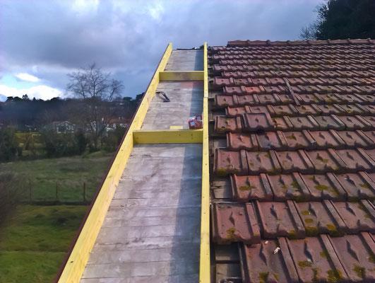 Préparation des avants-toits