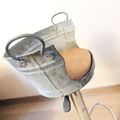 Chaise bassine 100% récup