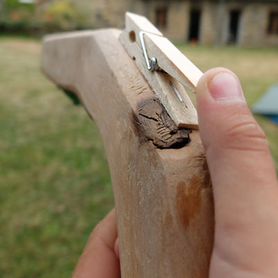 Elastoflingue en chêne flotté