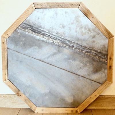 plateau de table en zinc