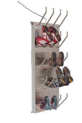 Schuhtrockner für 10 Paar mit Absaugung