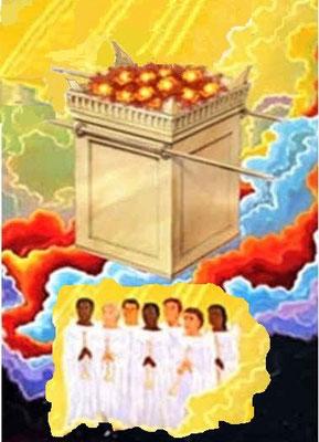 A l'ouverture du cinquième sceau, les âmes des fidèles chrétiens mis à mort pour la parole de Dieu réclament justice et vengeance. Ils se trouvent sous l'autel qui est devant le trône de Dieu.
